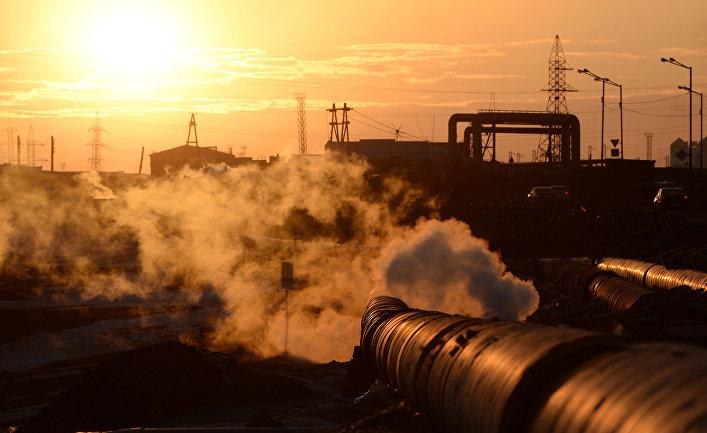 Промышленный район в Норильске