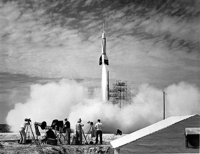 «Bumper V-2» — первая ракета, запущенная с мыса Канаверал