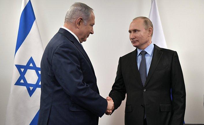 Президент РФ Владимир Путин и премьер-министр Израиля Биньямин Нетаньяху. 29 января 2018