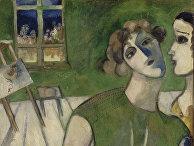 Шагал, Марк Захарович. Автопортрет в зеленом. 1914