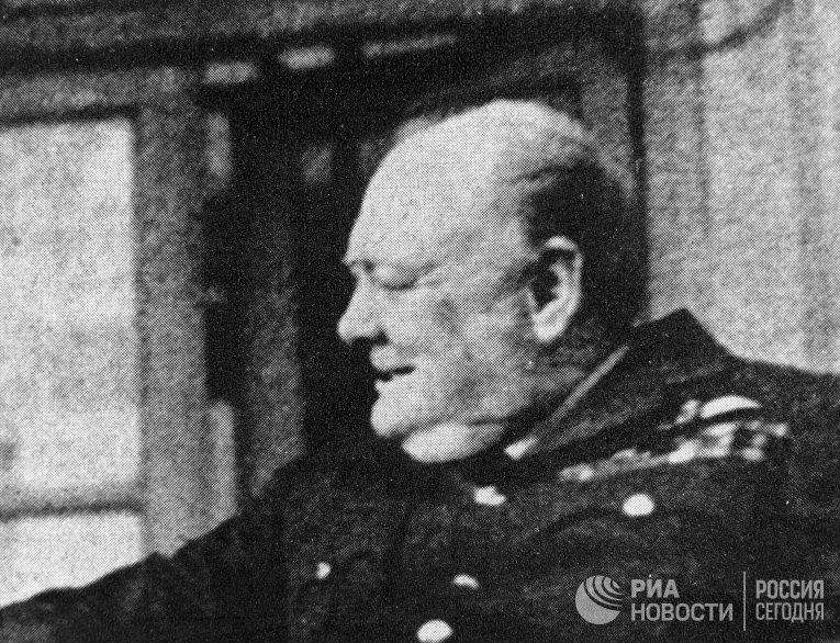 Премьер-министр Великобритании Уинстон Черчилль. Репродукция