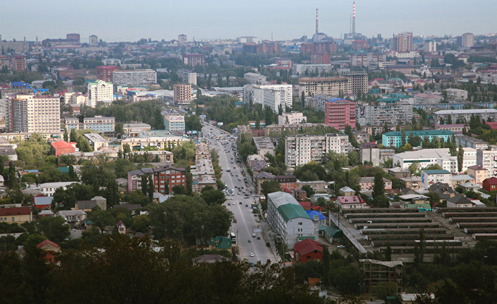 Вид на город Махачкалу