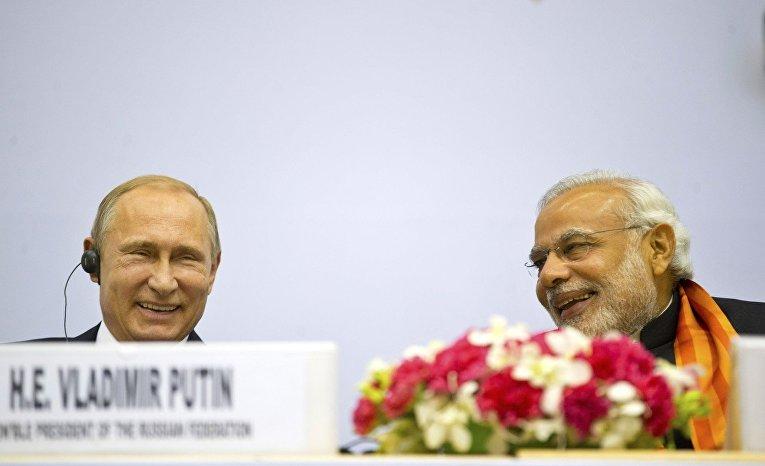 Владимир Путин и Нарендра Моди, визит президента России в Индию