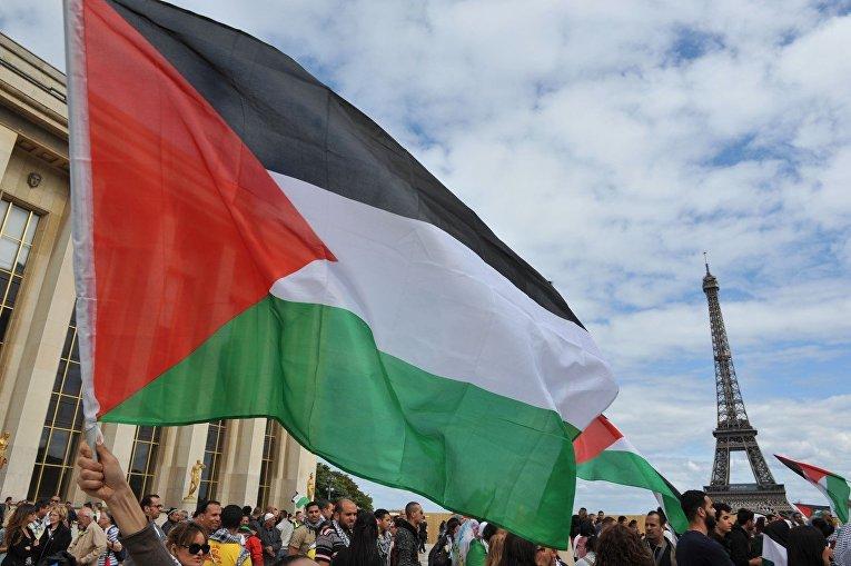 Демонстрация в поддержку палестинцев в Париже