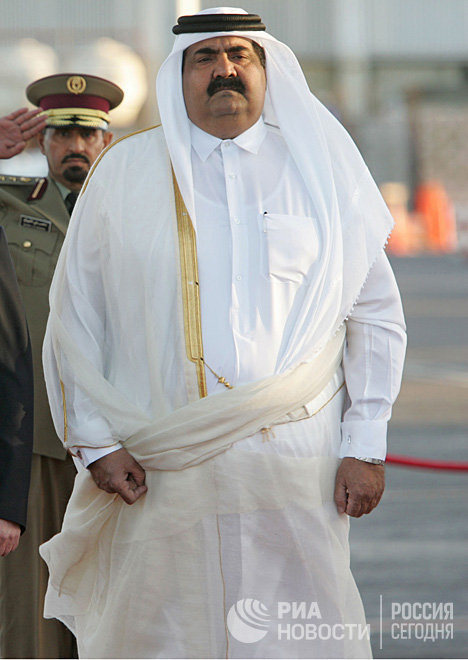 Эмир Катара шейх Хамад бен Халифа Аль Тани