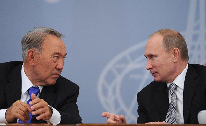 Владимир Путин и Нурсултан Назарбаев, архивное фото