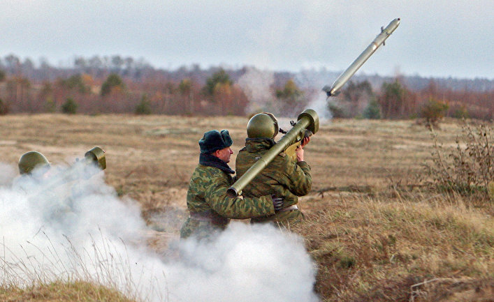 ПЗРК «Игла» во время тактических учений с боевой стрельбой на полигоне Доманово в Брестской области
