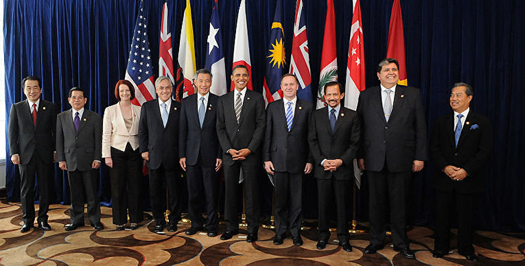 Представители стран-участниц Транс-Тихоокеанского партнерства