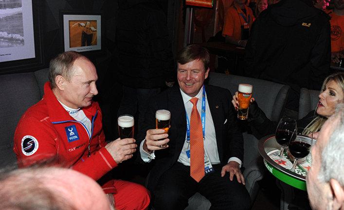 В.Путин посетил гостевой дом Нидерландов