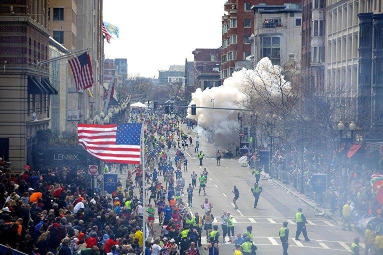 Взрыв у финишной линии Бостонского марафона