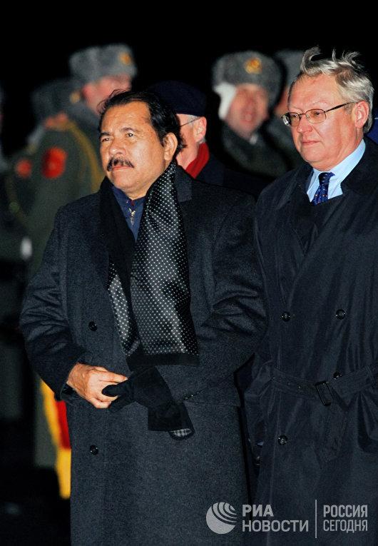 Президент Никарагуа Даниэль Ортега прибыл в Москву