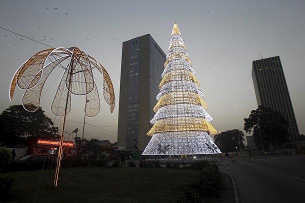 Рождественская елка в Абиджане, Кот-д'Ивуар