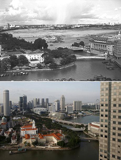 Сингапур в 1976 и 2015 годах