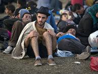 Мигранты в городе Рёске, Венгрия