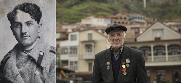 Ветеран Великой отечественной войны из Грузии Георгий Гозалишвили
