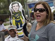 Сторонник избранного президента Жаира Болсонару в Рио-де-Жанейро, Бразилия