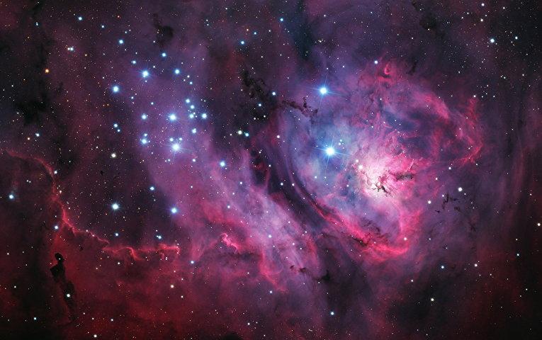 Область звездообразования M8, известнуя также как туманность Лагуна