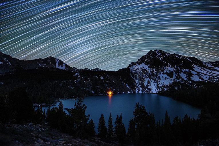 Звездные полосы над Зеленым озером