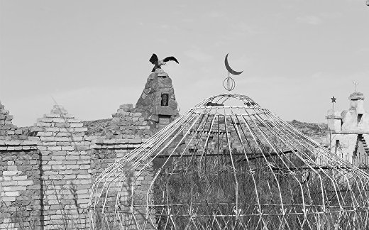 Кладбище в Киргизии