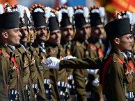 Военнослужащие гренадерского полка Вооруженных сил Индии во время Парада Победы в Москве