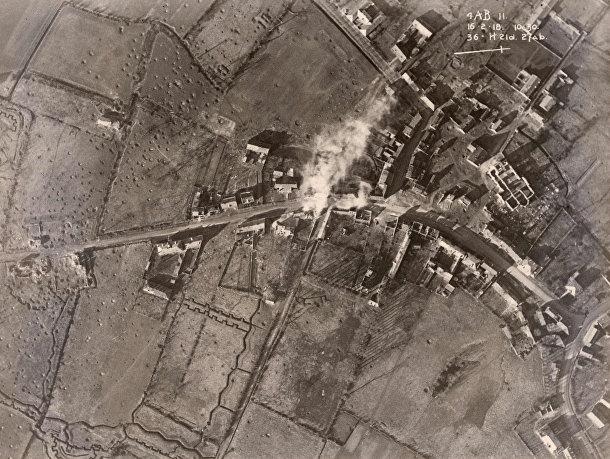 Западный фронт, снимок с британского самолета