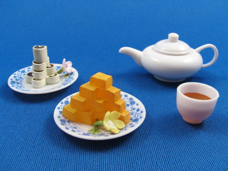 Лепешки из горохового пюре (Ваньдоу хуа)