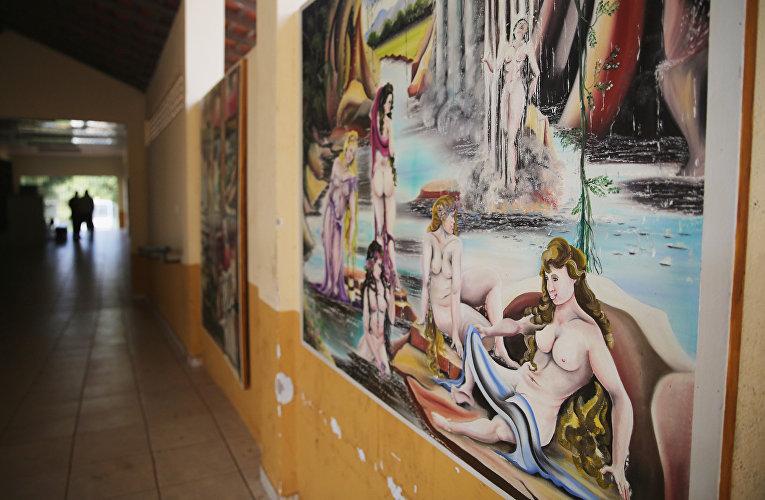 Рисунки заключенных в тюрьме Педриньяс в Бразилии