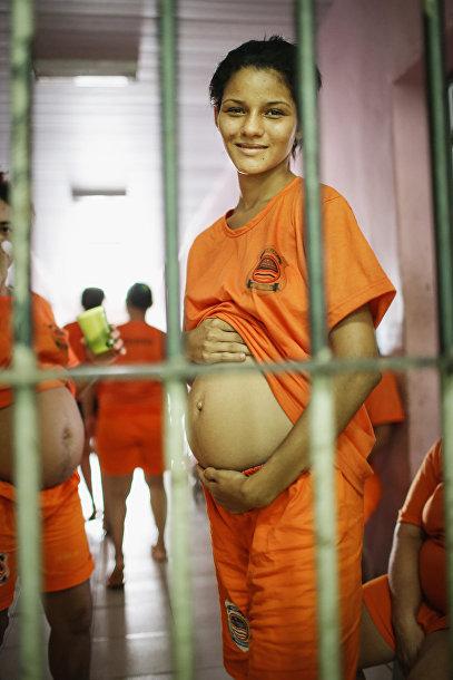 Беременная женщина – заключенная тюрьмы Педриньяс в Бразилии