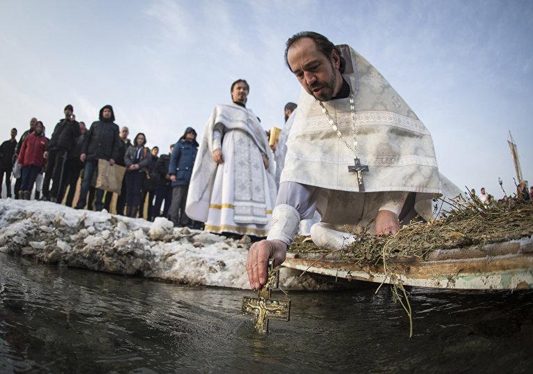 Празднование Крещения в Алма-Ате