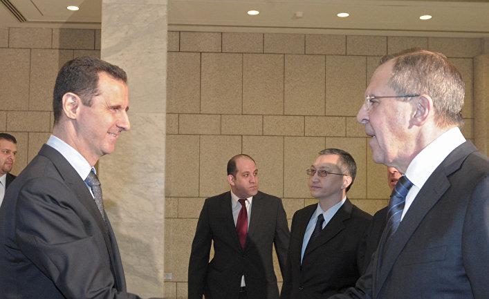 Визит С.Лаврова и М.Фрадкова в Сирию