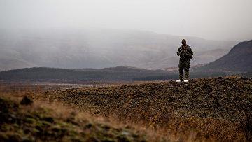 Морской пехотинец изСША вовремя учений НАТО «Единый трезубец— 2018» вНорвегии