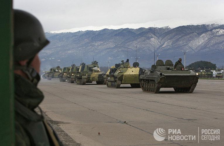 Российская военная база в Абхазии (Гудаута)