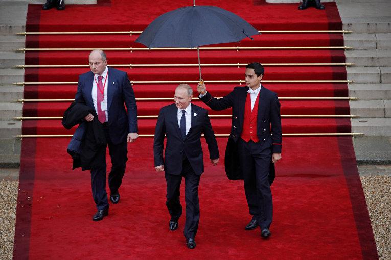Президент РФ Владимир Путин в Елисейском дворце, Париж. 11 ноября 2018