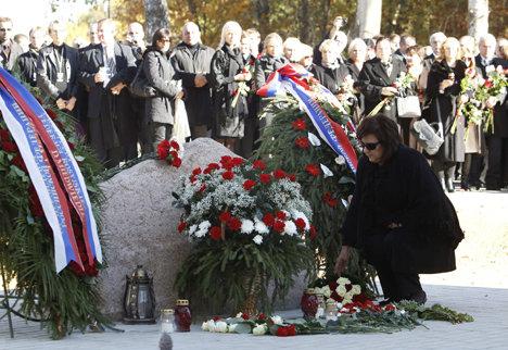 Анна Комаровская посетила мемориал в Катыни