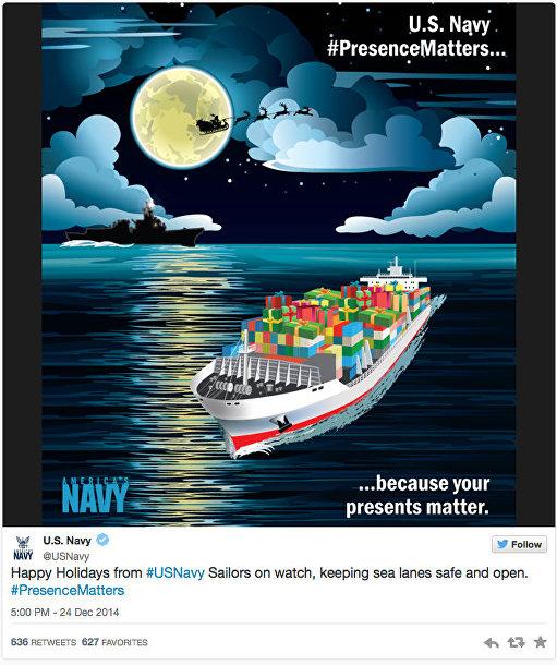 Поздравление с Рождеством от ВМС США