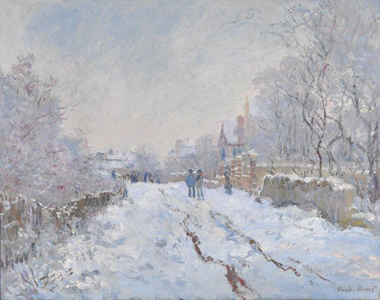 Клод Моне «Снег в Аржантее» (1875)