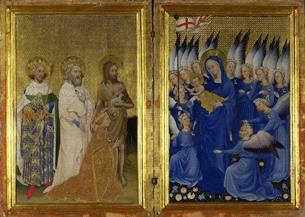 Неизвестный французский мастер, «Уилтонский диптих» (около 1359-99)