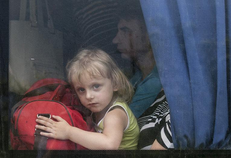 Беженцы из Славянска