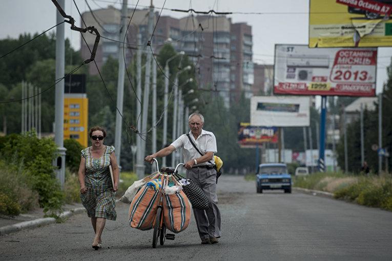 Жители покидают Славянск