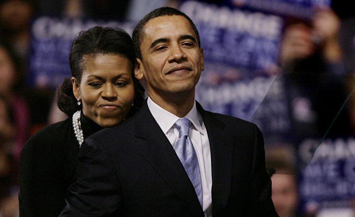 Избранный президент США Барак Обама и Мишель Обама в Нью-Йорке, США