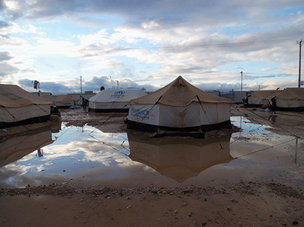Лагерь сирийских беженцев Заатари