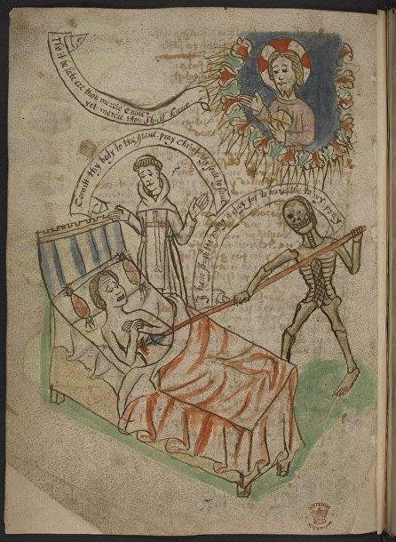 Смерть в искусстве Средневековья: человек на смертном одре