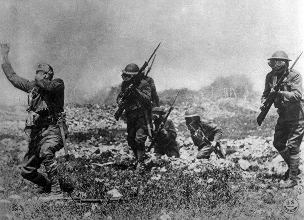 Газовая атака во время Первой мировой войны, 1918 год