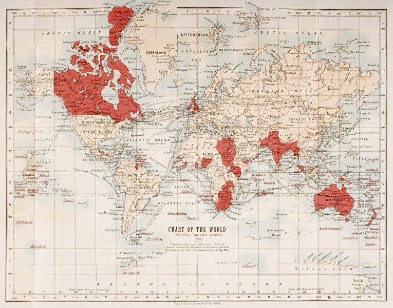Британская империя в 1901 году