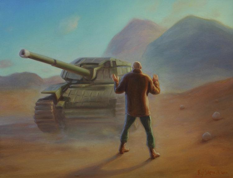Кай Стенвалл «Путин останавливает неопознанный танк голыми руками»