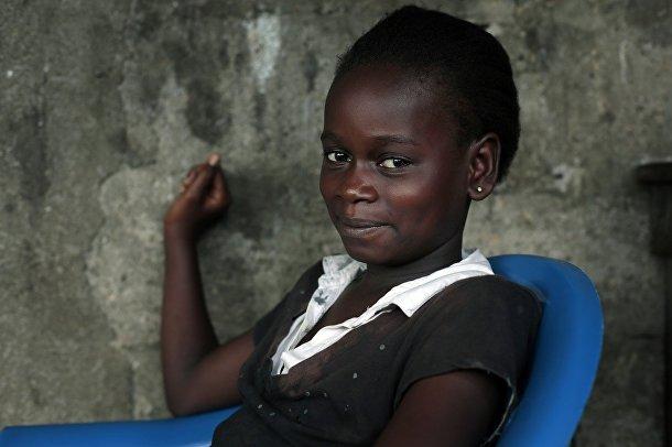 Кумба Файях, выздоровевшая после заболевания лихорадкой Эбола