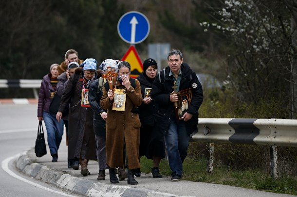 Православный патруль на улице Ялты