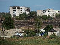 Жилые дома в Луганской области, поврежденные обстрелом и пожаром