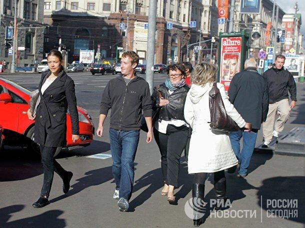 Основатель Facebook Марк Цукерберг в Москве