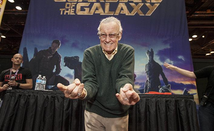 Автор комиксов Стэн Ли на Chicago Comic & Entertainment Expo